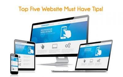 Top Five Website Must Haves