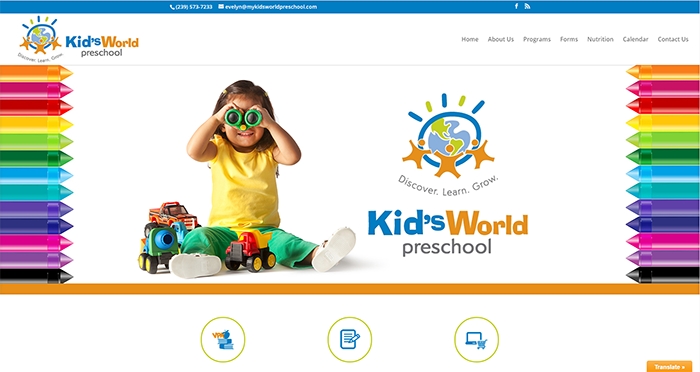Kid's World Preschool gets a Website Makeover!